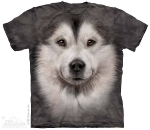 Футболка с 3D эффектом The Mountain Alaskan Malamute Face