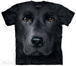 Футболка с 3D эффектом The Mountain Black Lab Face