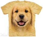 Футболка с 3D эффектом The Mountain Golden Retriever Puppy