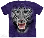 Футболка с 3D эффектом The Mountain Raging Big Face White Tiger
