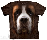 Футболка с 3D эффектом The Mountain Saint Bernard Face