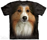 Футболка с 3D эффектом The Mountain Sheltie Face