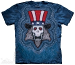 Футболка с 3D эффектом The Mountain Uncle Sam Tie Dye