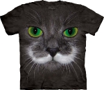 Футболка с 3D эффектом The Mountain Big Face Hamilton the Hipster Cat