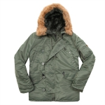 Куртка аляска Alpha Industries N-3B regular, Parka, green-green