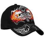 "Бейсболка Hot Leathers ""Mirror Skulls"" (Black)"