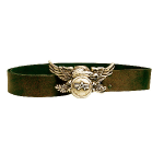 Ремень Alpha Industries Leather belt eagle, кожа, olive, M