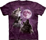 Футболка с 3D эффектом The Mountain Three Wolf Moon in Purple