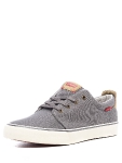 Кеды мужские Levis Justin Low Lace,736 (56) dark grey, 223286/736-56
