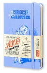 Блокнот Moleskine Limited Edition Alice In Wonderland Pocket, 90x140 мм, 192 стр., нелинованный, голубой, 400969
