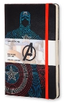 Блокнот Moleskine Limited Edition The Avengers Мстители Large, 130х210 мм, 240 стр., линейка, Captain Amer, 400928