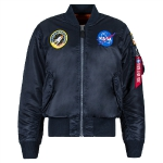 Куртка Alpha Industries NASA MA-1 Flight Jacket, replica blue