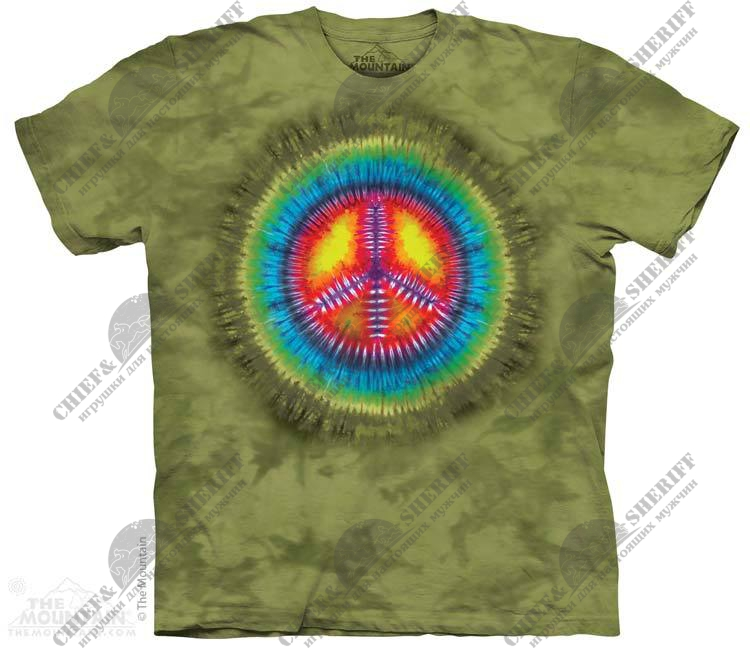 Футболка с 3D эффектом The Mountain Peace Tie-Dye