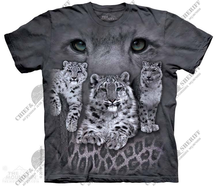 Футболка с 3D эффектом The Mountain Snow Leopards