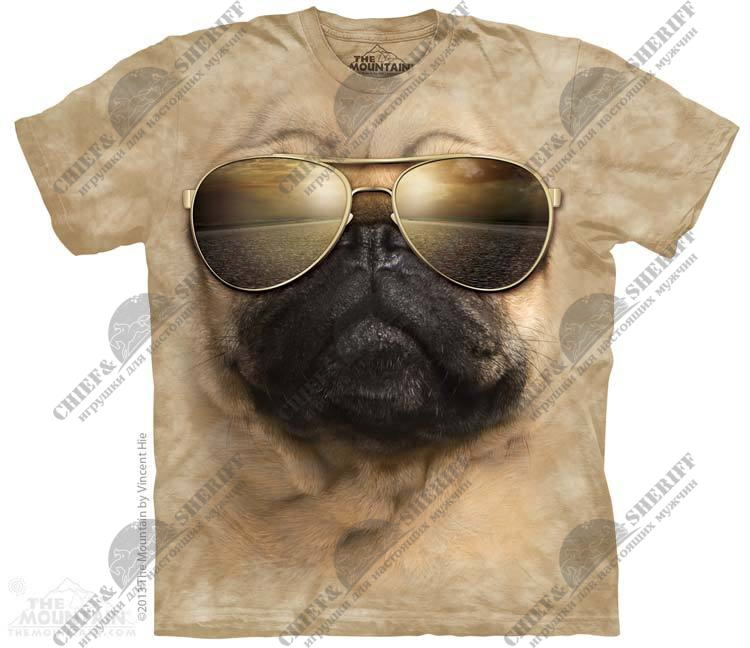 Футболка с 3D эффектом The Mountain Aviator Pug