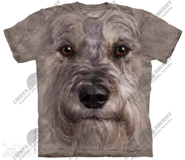 Футболка с 3D эффектом The Mountain Miniature Schnauzer Face