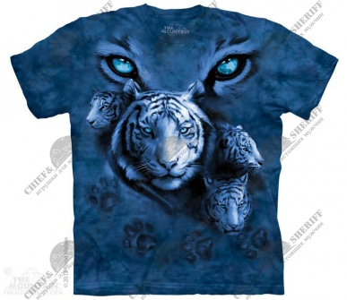 Футболка с 3D эффектом The Mountain White Tiger Eyes