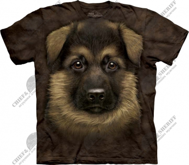 Футболка с 3D эффектом The Mountain German Shepherd Puppy