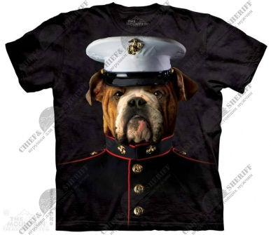 Футболка с 3D эффектом The Mountain Bulldog Marine