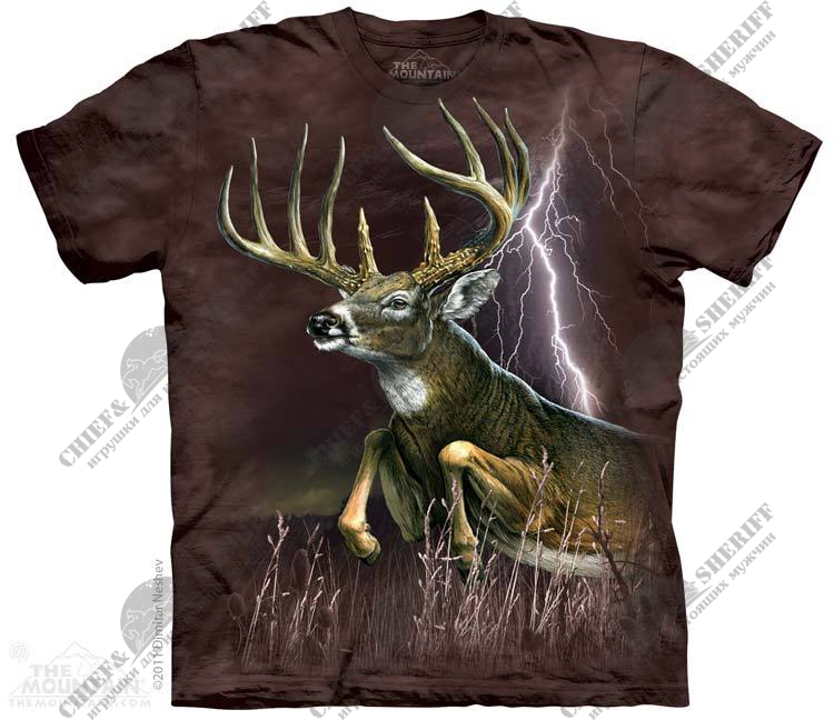 Футболка с 3D эффектом The Mountain Deer Lightning