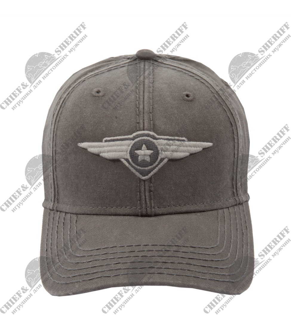 "Бейсболка Top Gun ""Top Gun Wings Logo"" Grey"