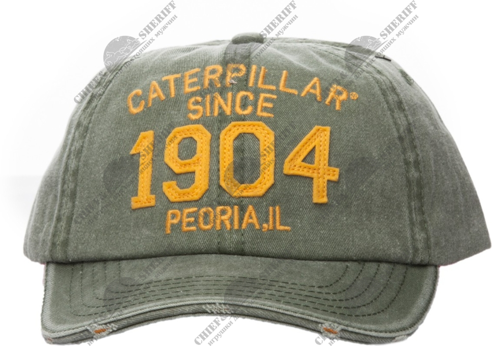 Бейсболка Caterpillar CAT 1904, зеленая, 2128318-59H