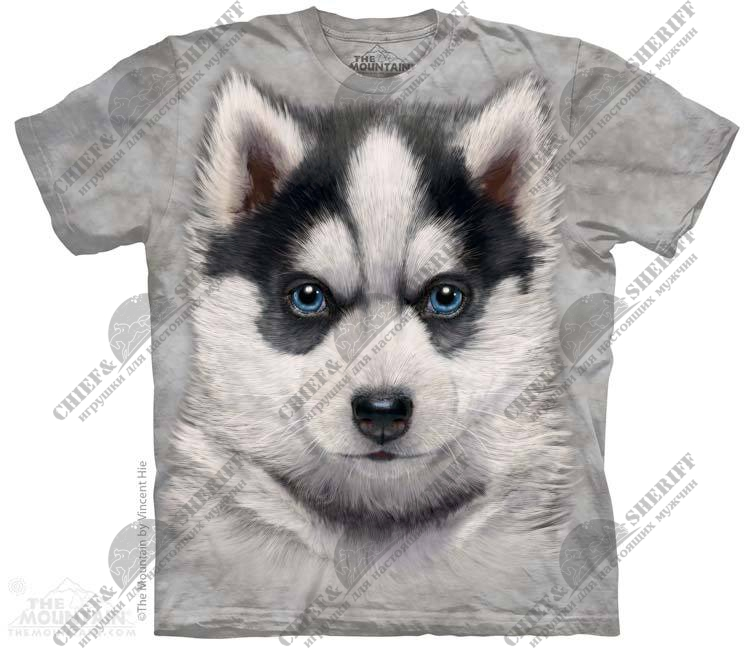 Футболка с 3D эффектом The Mountain Siberian Husky Puppy