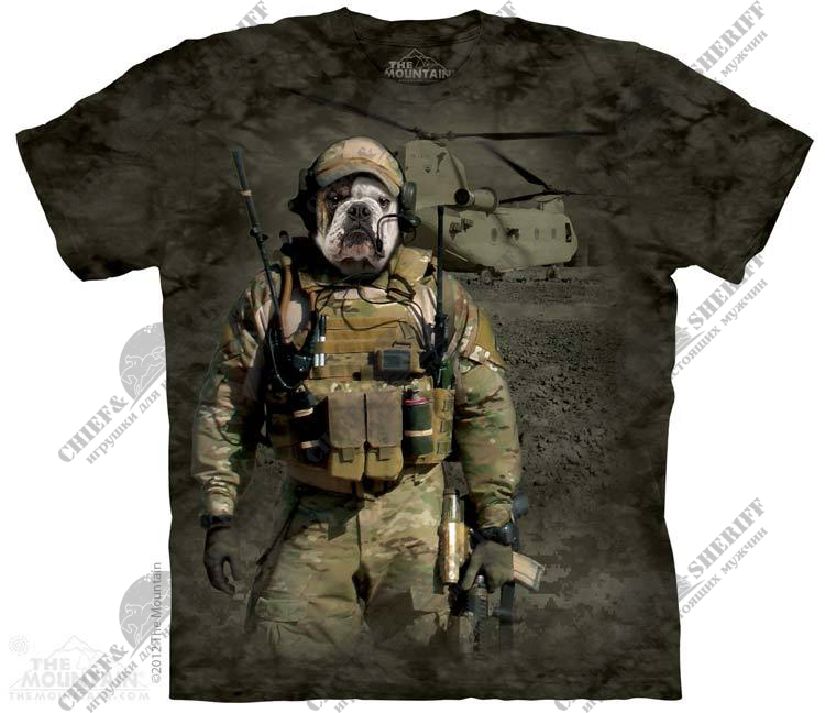 Футболка с 3D эффектом The Mountain Jtac Wardog