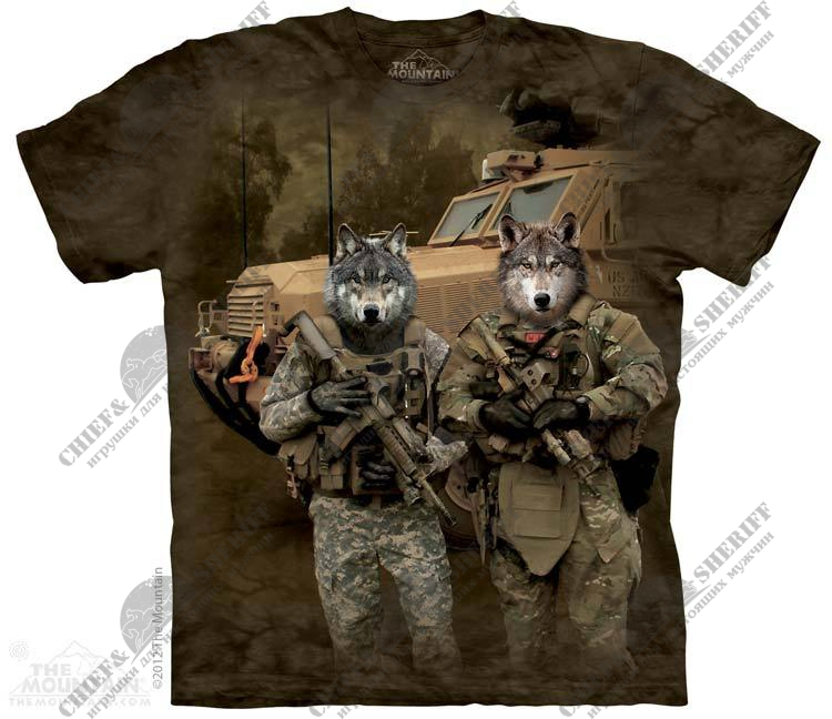 Футболка с 3D эффектом The Mountain JTAC Wolfpack