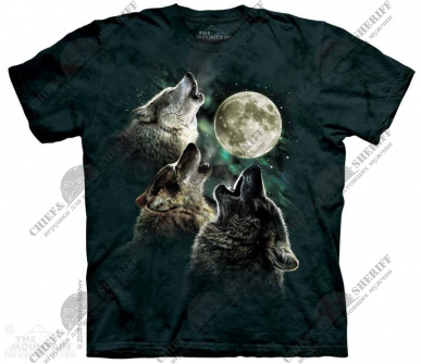 Футболка с 3D эффектом The Mountain Three Wolf Moon
