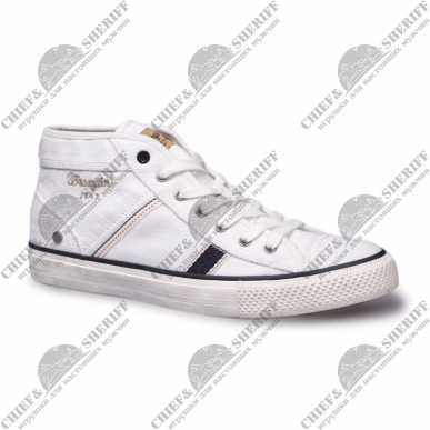Кеды мужские Wrangler Starry Mid Canvas, white, WM161033-51