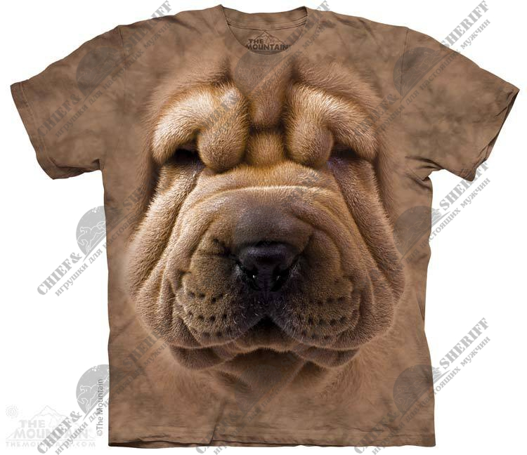 Футболка с 3D эффектом The Mountain Big Face Shar Pei Puppy