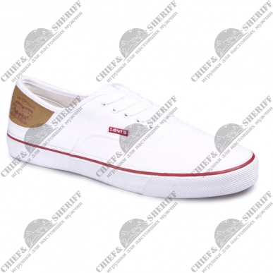Кеды мужские Levis Stan Buck (51) regular white, 223001/1733-51