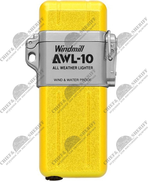 Зажигалка Windmill AWL-10 Turbo, желтая, WM 307-1004
