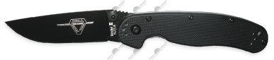 Нож складной Ontario RAT (Крыса) 2 Folder Black Handle - Black Blade, ON8861