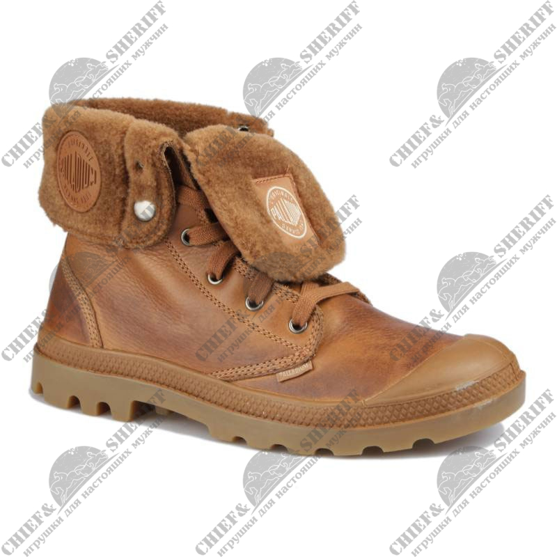 Мужские ботинки Palladium Baggy Leather S (292) brown/mid gum, 02610-292
