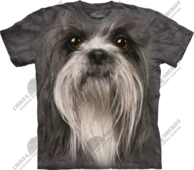 Футболка с 3D эффектом The Mountain Shih Tzu Face
