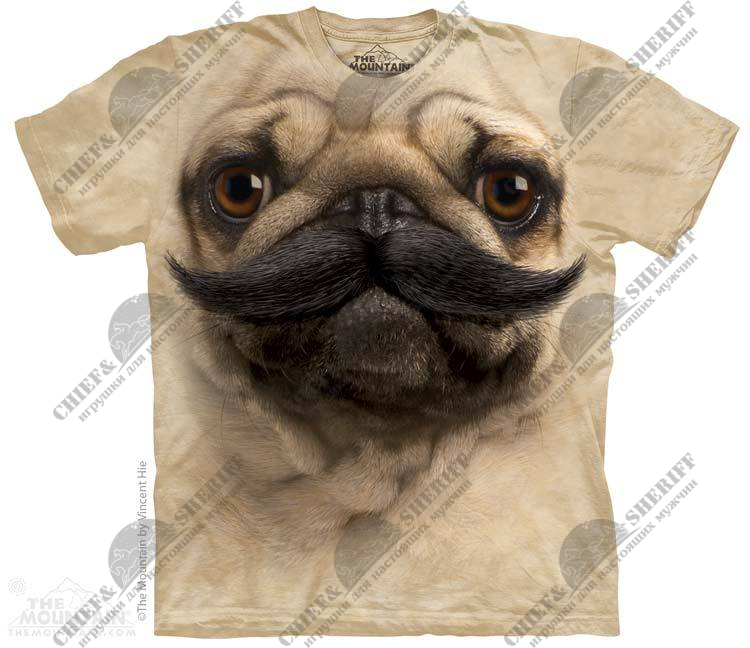 Футболка с 3D эффектом The Mountain Big Face Pug Stache