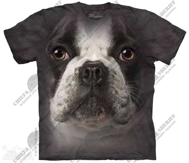 Футболка с 3D эффектом The Mountain French Bulldog Face
