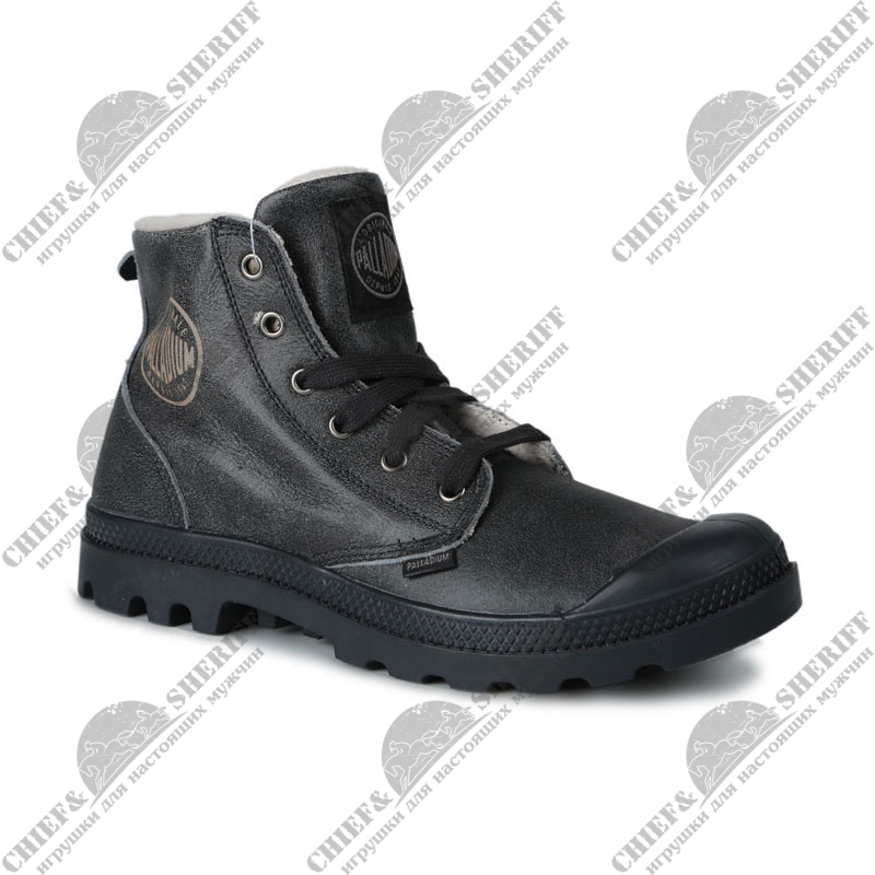Мужские ботинки Palladium Pampa Hi Leather S (092) anthracite/pilot, 02609-092-М
