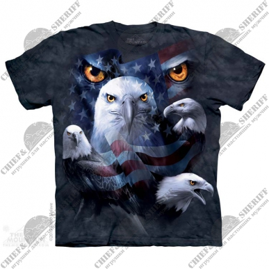 Футболка с 3D эффектом The Mountain Patriotic Moon Eyes Eagle