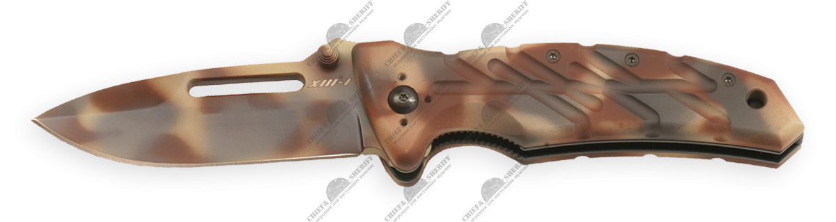 Нож складной Ontario XM-1D Camo Plain Edge, ON8760