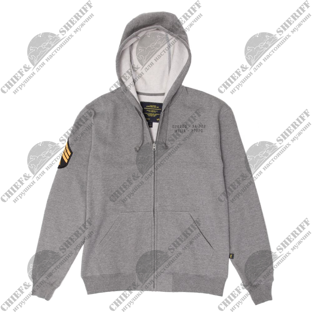 Джемпер Alpha Industries Hutton, heather grey