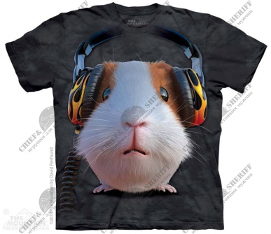 Футболка с 3D эффектом The Mountain DJ Guinea Pig