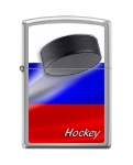 Зажигалка Zippo Российский хоккей, покрытие Brushed Chrome, матовая, 200 RUSSIAN HOCKEY PUCK