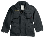 Куртка Rothco М-65 Vintage Field Jacket, black, 8608