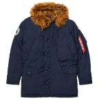 Куртка аляска Alpha Industries N-3B Alpine parka, blue, MJN49503RB