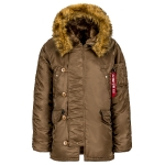 Куртка аляска Alpha Industries N-3B regular, Parka, coyote brown