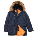Куртка аляска Alpha Industries slim Fit N-3B, Parka, blue-orange
