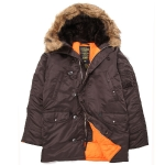 Куртка аляска Alpha Industries slim Fit N-3B, Parka, deep brown-orange